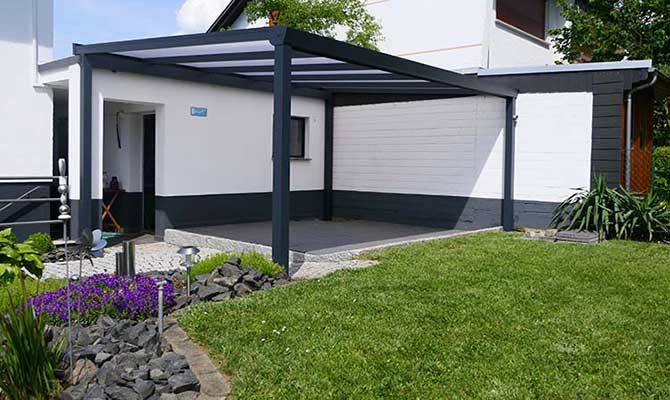 Terrassenüberdachung Trend Paket freistehend Polycarbonat