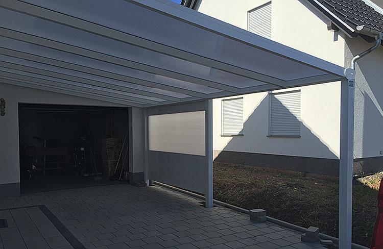 ein carport f r das wohnmobil von den experten von o p profi. Black Bedroom Furniture Sets. Home Design Ideas