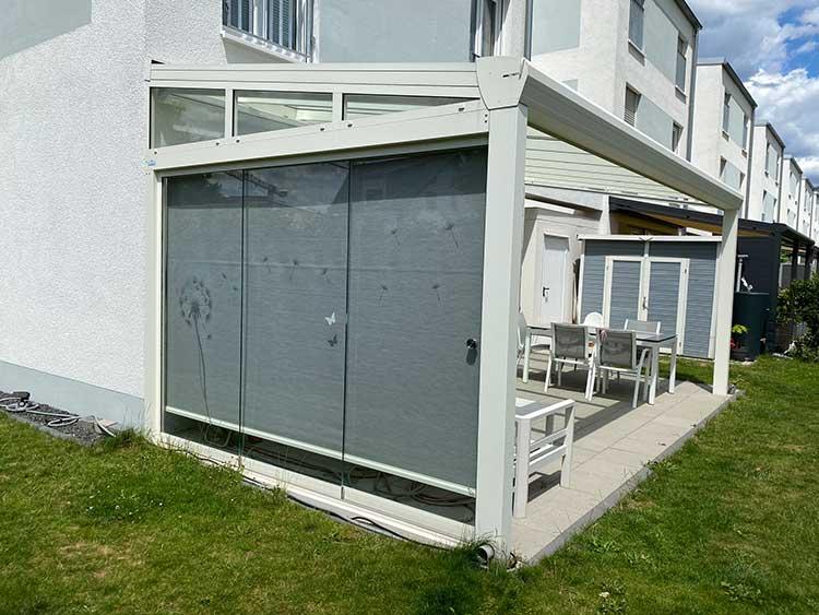Terrassenüberdachung Top-Paket aus Aluminium und Glas mit Schiebeelementen
