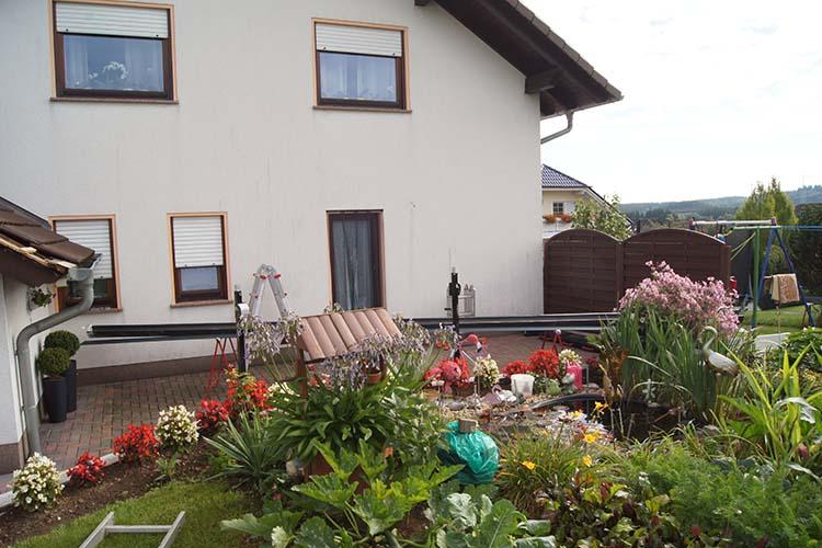 Terrassenüberdachung Trend-Paket in Anthrazit mit VSG 8 mm