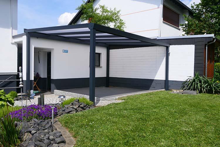 Terrassenüberdachung Trend-Paket freistehend mit Polycarbonat 16mm
